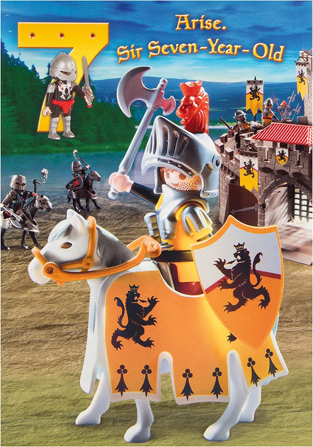 PLAYMOBILE KNIGHTS Official Quality Birthday Card
