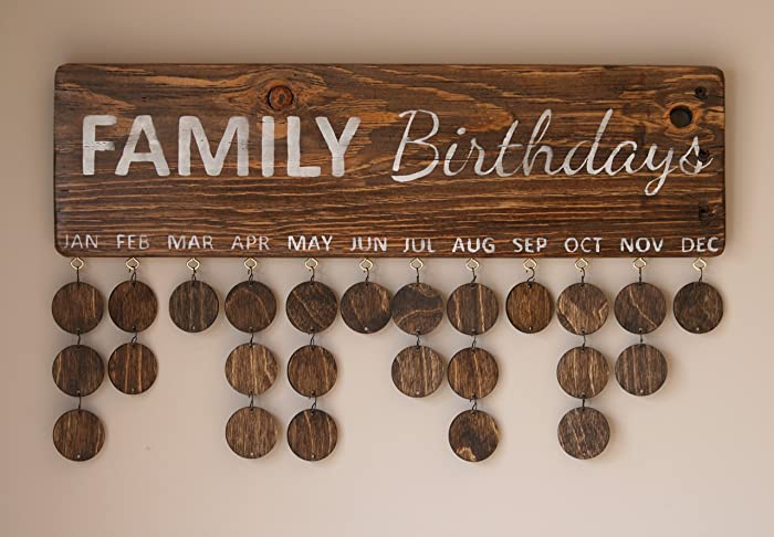 amazon com family birthday sign family calendar sign family