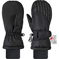 Andake Kids Ski Mittens Winter Warm Waterproof & Windproof Gloves for Boys Girls, Great for 2-7 Years Old Children