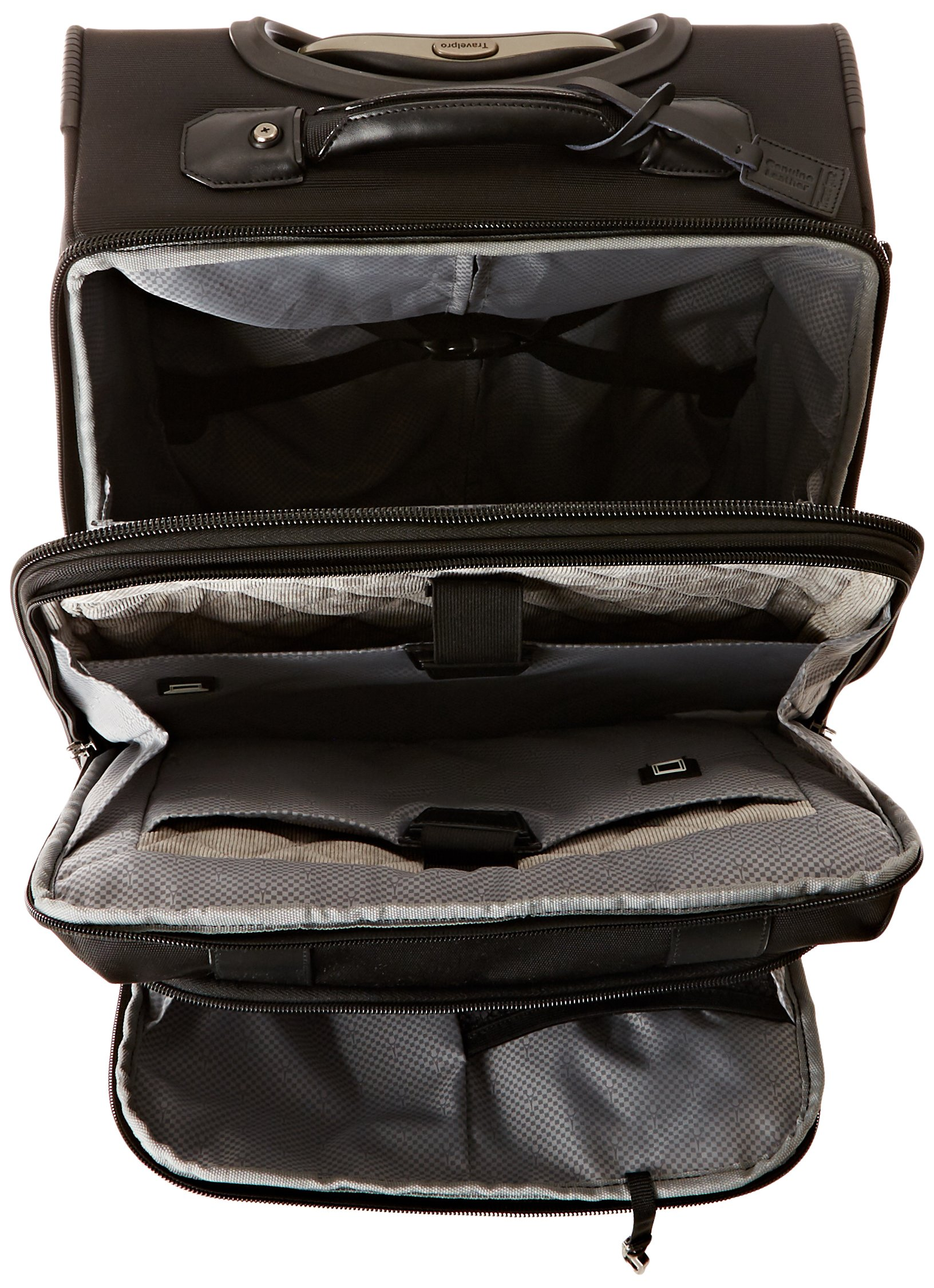 Travelpro Executive Choice Crew 16 Inch Rolling Business Brief, Black, One Size by Travelpro (Image #5)