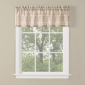 SKL Home by Saturday Knight Ltd. Briarwood Valance, 56 Inches x 13 Inches, Wheat