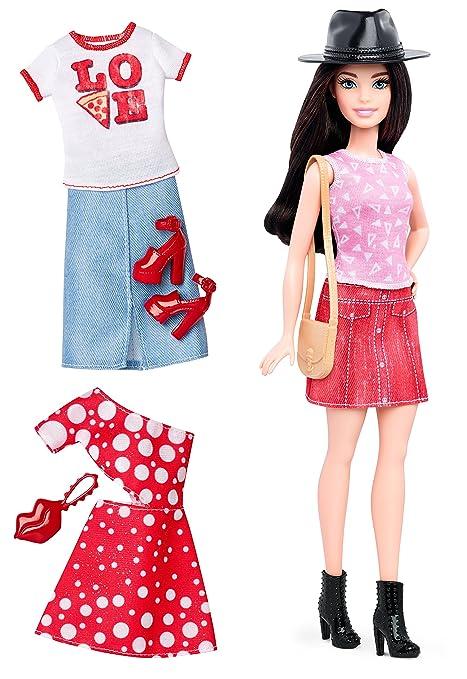 Amazon.com: Barbie Fashionistas Doll & Fashions Pizza Pizzazz ...