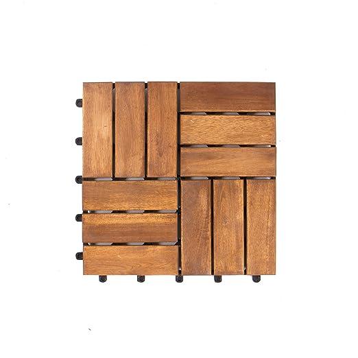 37 opinioni per Vanage- Piastrelle in legno d'acacia, set da 9, ca. 30 x 30 x 2,4 cm, Edge