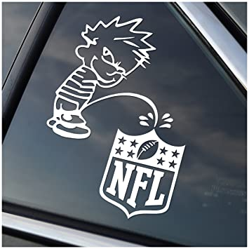 Amazoncom Piss On The NFL Calvin Peeing On Vinyl Car Window - Vinyl window decals amazon