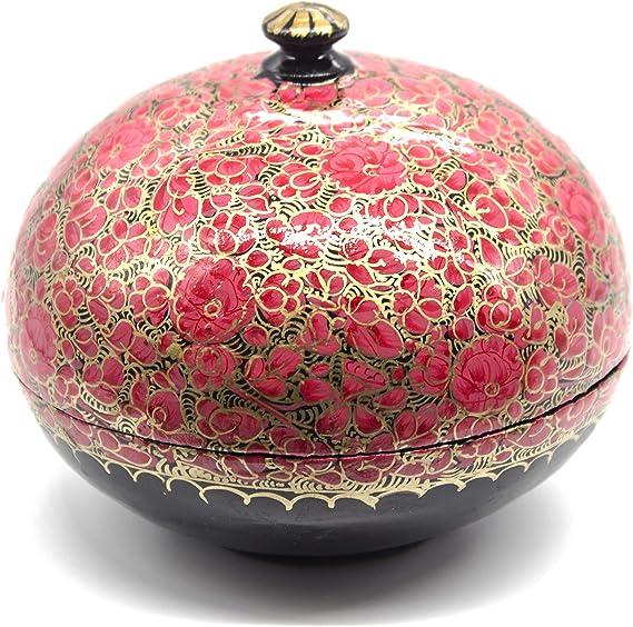 Caja de regalo Artezen Chapeau, color rojo, dorado y negro | Joyero | Almacenamiento | Presentación | Decoración | Multiutilidad | Único para el hogar: Amazon.es: Hogar