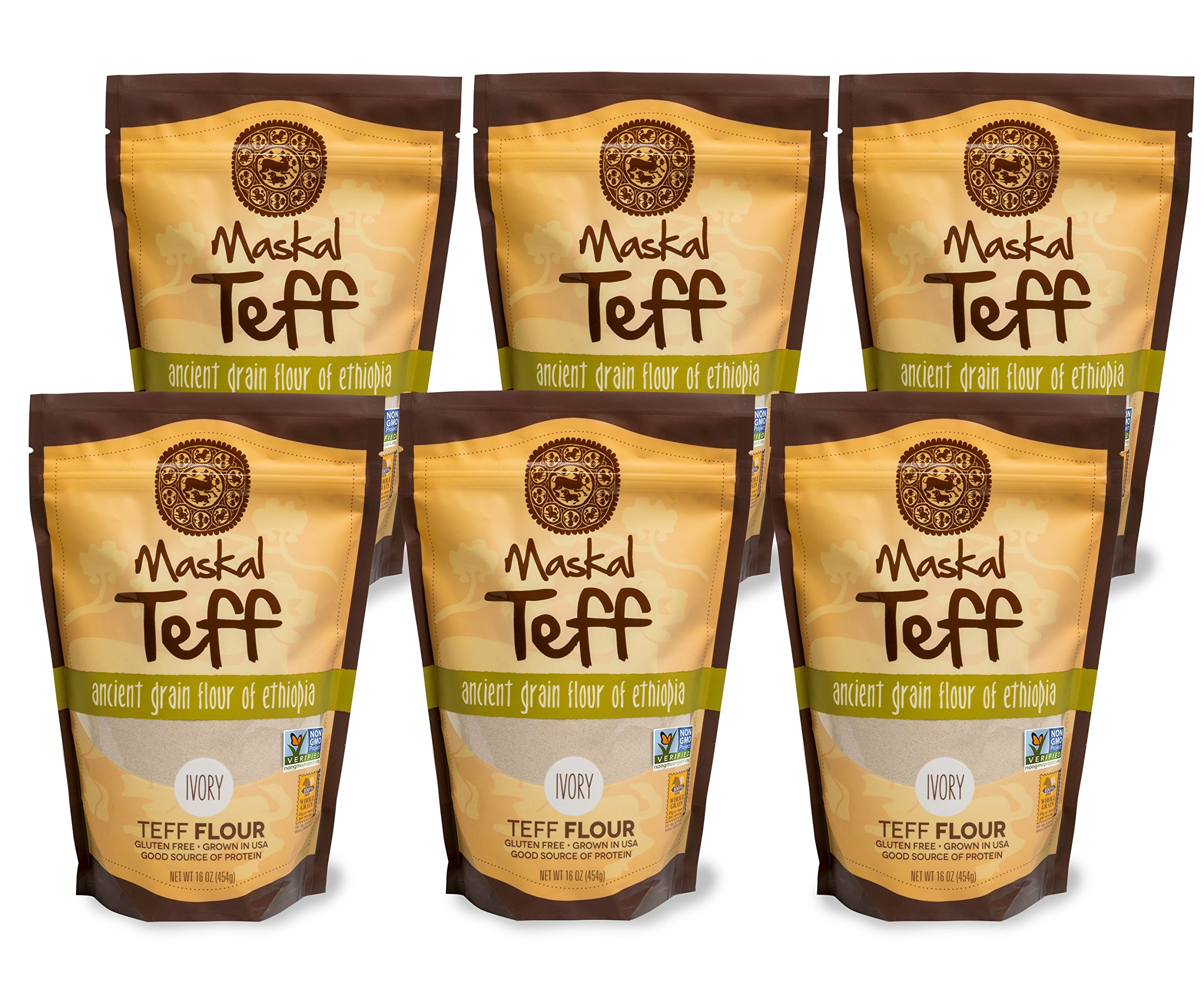 Amazon.com : Maskal Teff Brown Teff Flour, 16 Ounce (6