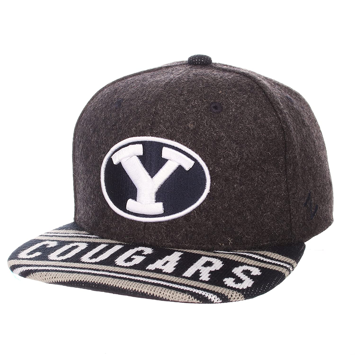 Adjustable Grey//Team Color Zephyr Adult Men End Zone Snap NCAA Snapback Hat