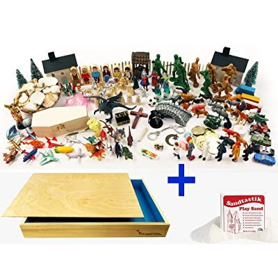Sand Tray Play Therapy Premium Starter Kit Full Package with Sand Tray & Sand by PlayTherapySupply: Toys & Games