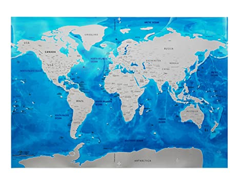 Amazon scratch off world map by travel dream beautiful global scratch off world map by travel dream beautiful global travel map to mark preserve gumiabroncs Choice Image