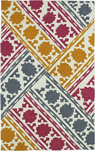 Kaleen Rugs Glam Collection Handmade Flatweave Multi-colored Rug 9 x 12
