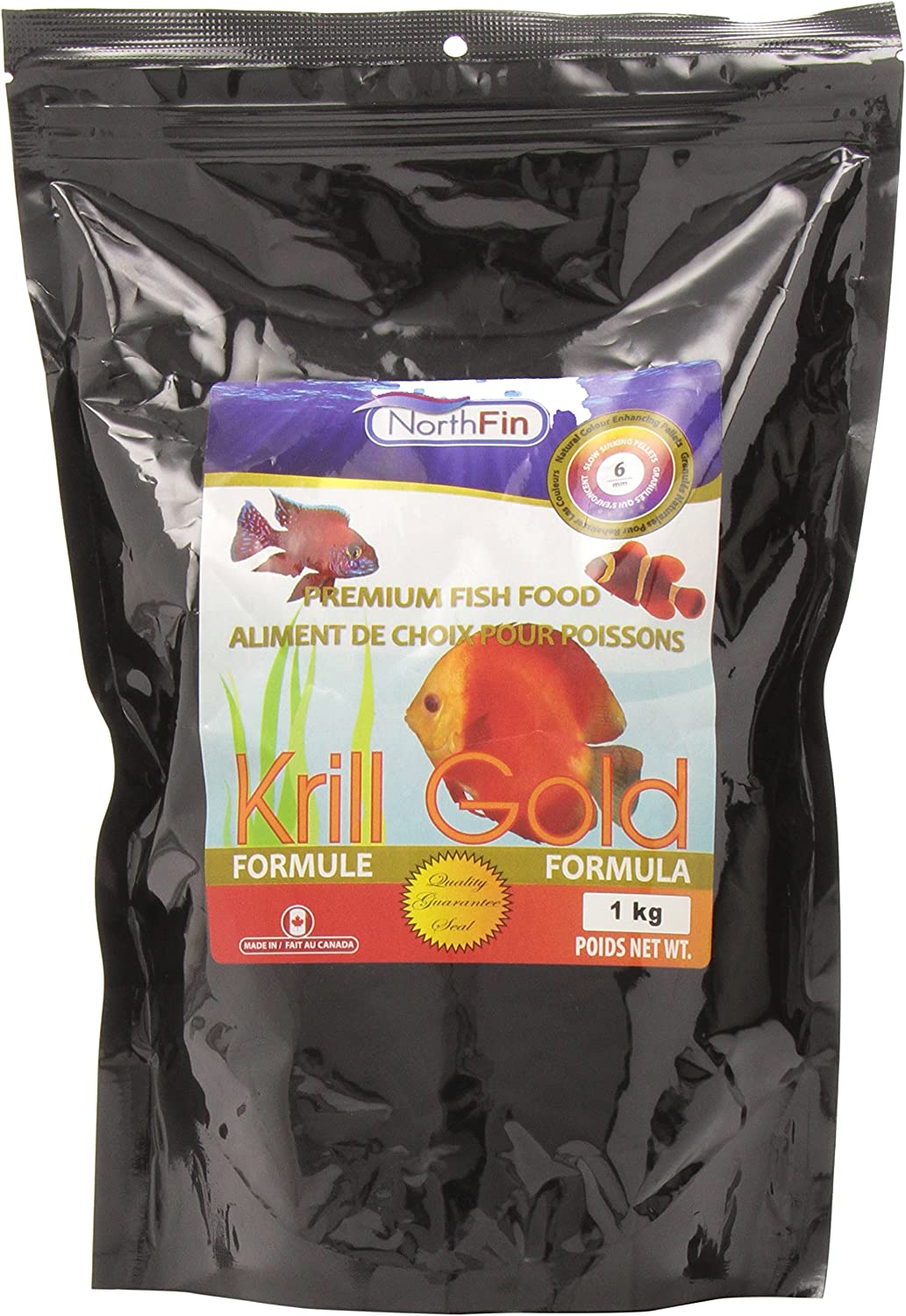 Northfin Food Krill Gold 6Mm Pellet Pellet 1Kg Package
