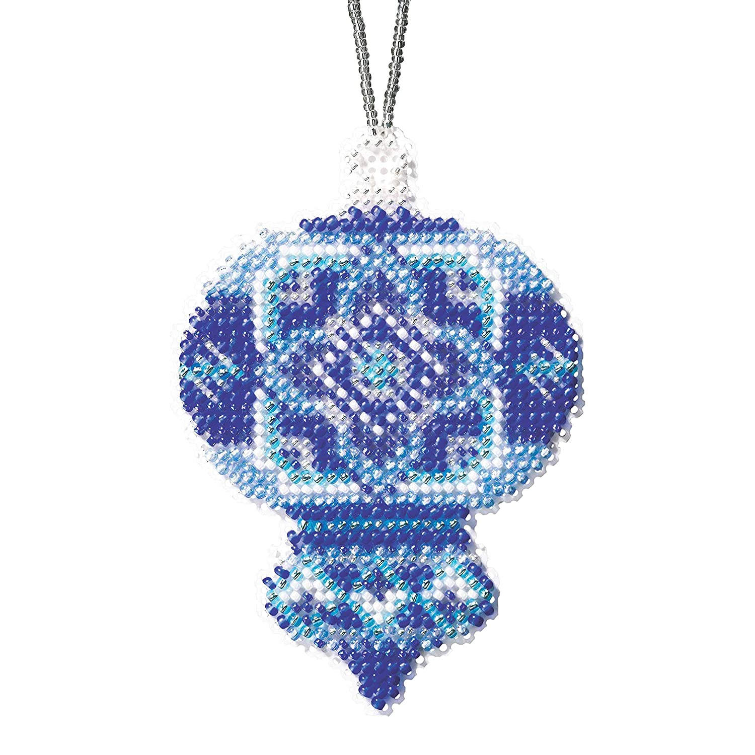 Azure Medallion Beaded Counted Cross Stitch Ornament Kit Mill Hill 2019 Beaded Holiday MH211912
