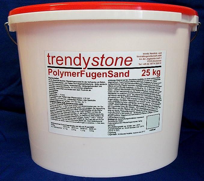Extrem trendystone Polymerfugensand 25 kg Natur - Pflasterfugenmörtel für NJ06