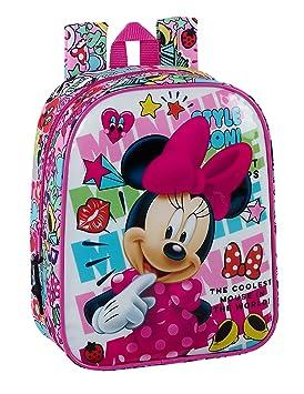 """Safta Mochila Minnie Mouse """"Cool"""" Oficial Mochila Infantil 220x100x270mm"""