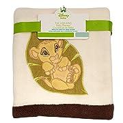 Disney Lion King Simba's Wild Adventure Super Soft Appliqued Baby Blanket, Ivory, Brown