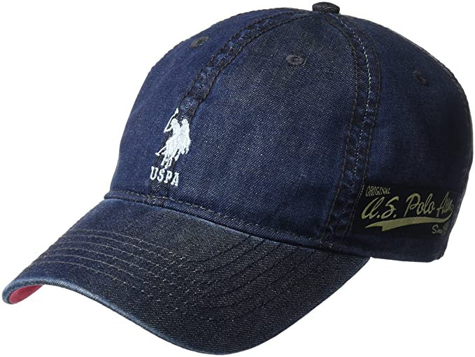 US Polo Association Men s Denim Cotton Baseball Cap (Navy 4b7e442bcc4b