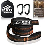 Pro Hammock Tree Straps with CARABINERS - 11 Feet, Adjustable 44 Loops, 400LB Rated (1200LB Tested), Easy Set up, Heavy…