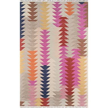 Momeni Rugs CARAVCAR-3MTI5076 Caravan Collection, 100% Wool Hand Woven Transitional Area Rug, 5' x 7'6 , Multicolor