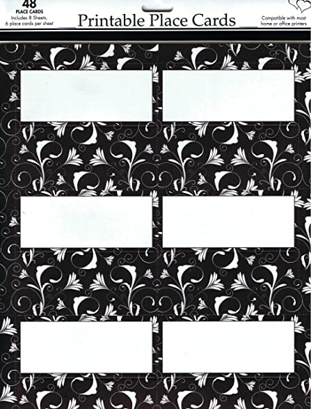 Amazoncom Celebration Black And White Place Cards X - Celebrate it templates place cards