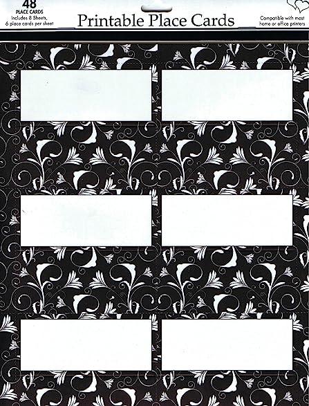Amazoncom Celebration Black And White Place Cards X - Celebrate it templates place cards