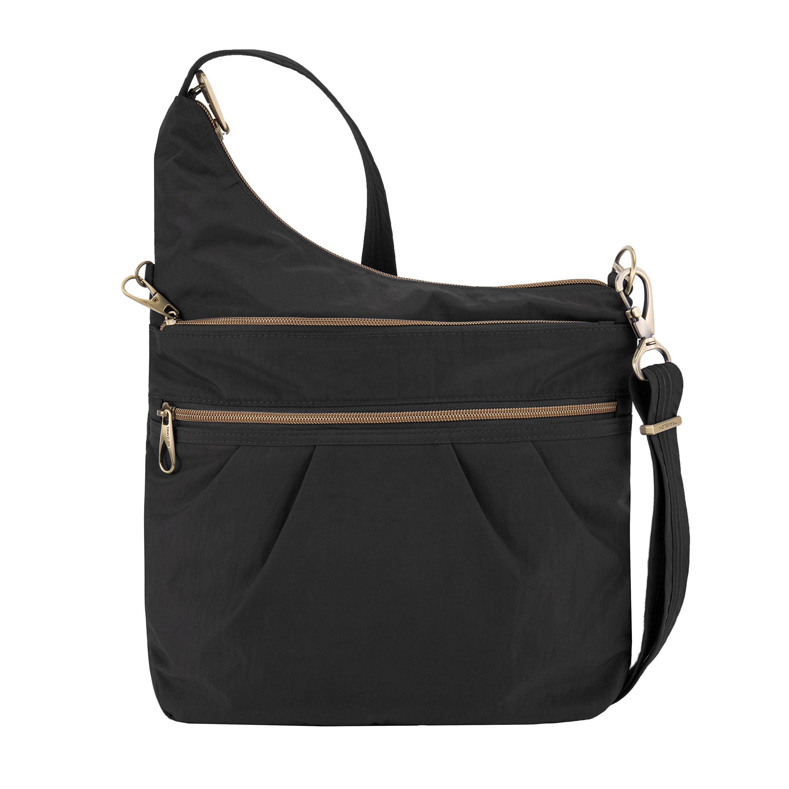 Travelon Anti-theft Signature 3 Compartment Cross Body Bag, Black
