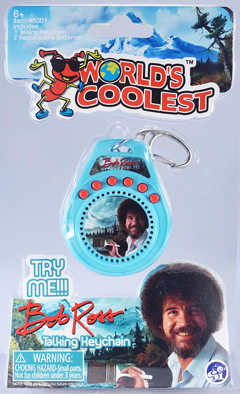 Amazon.com: Worlds Coolest Bob Ross Talking Keychain: Toys ...