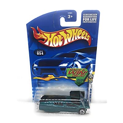 Hot Wheels 2002 First Editions Syd Mead's Sentinel 400 Limo 42/42 #054 #54 TEAL 1:64 Scale: Toys & Games
