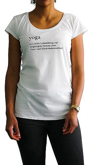 IckeMe Yoga Day Basic Camiseta de Mujer con aufruck ...