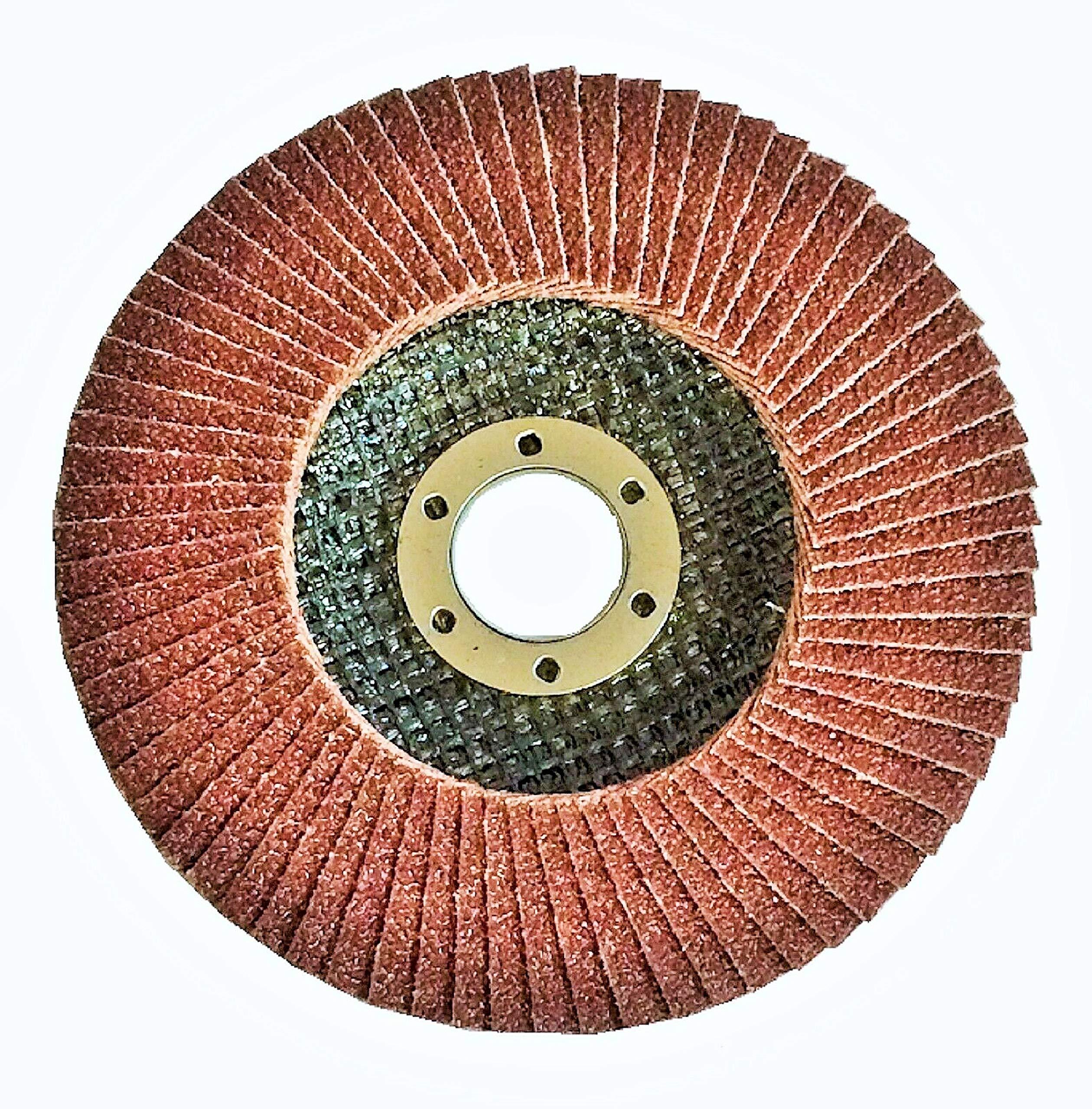 WennoW (100-PC) 5'' x 7/8'' PREMIUM ZIRCONIA GRINDING WHEEL FLAP DISC 40 GRIT NEW