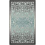 (0.6mx0.9m, Gray/Blue) - Accent Rug, Maples Rugs [Made in USA][Pelham] 0.6m1.8m x 0.9m10 Non Slip Padded Small Throw…