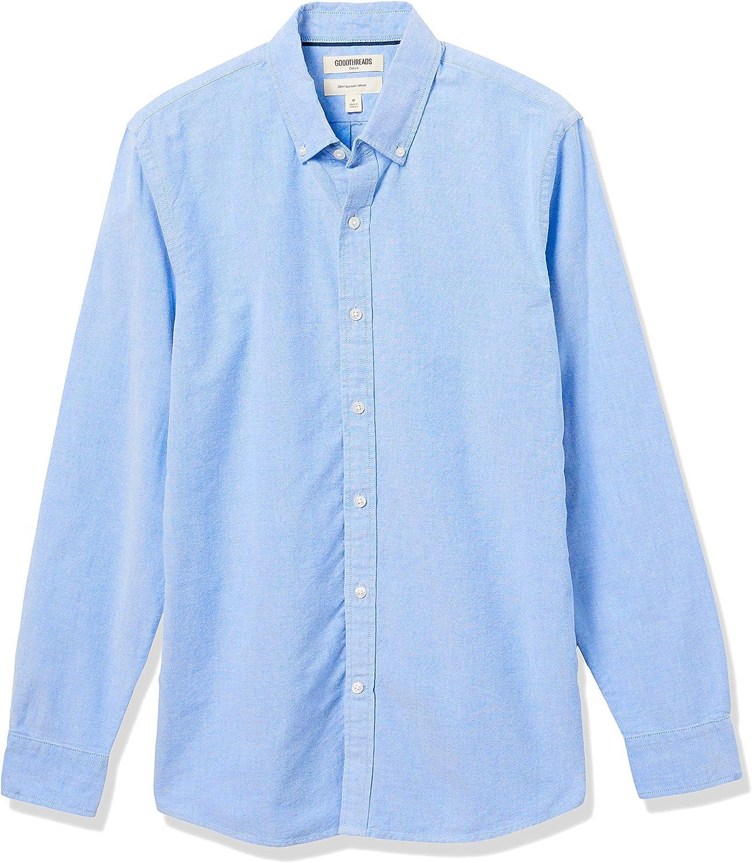 Essentials Mens Regular-Fit Long-Sleeve Solid Oxford Shirt