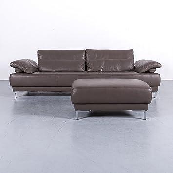 Amazonde Ewald Schillig Leder Sofa Garnitur Braun Dreisitzer Couch