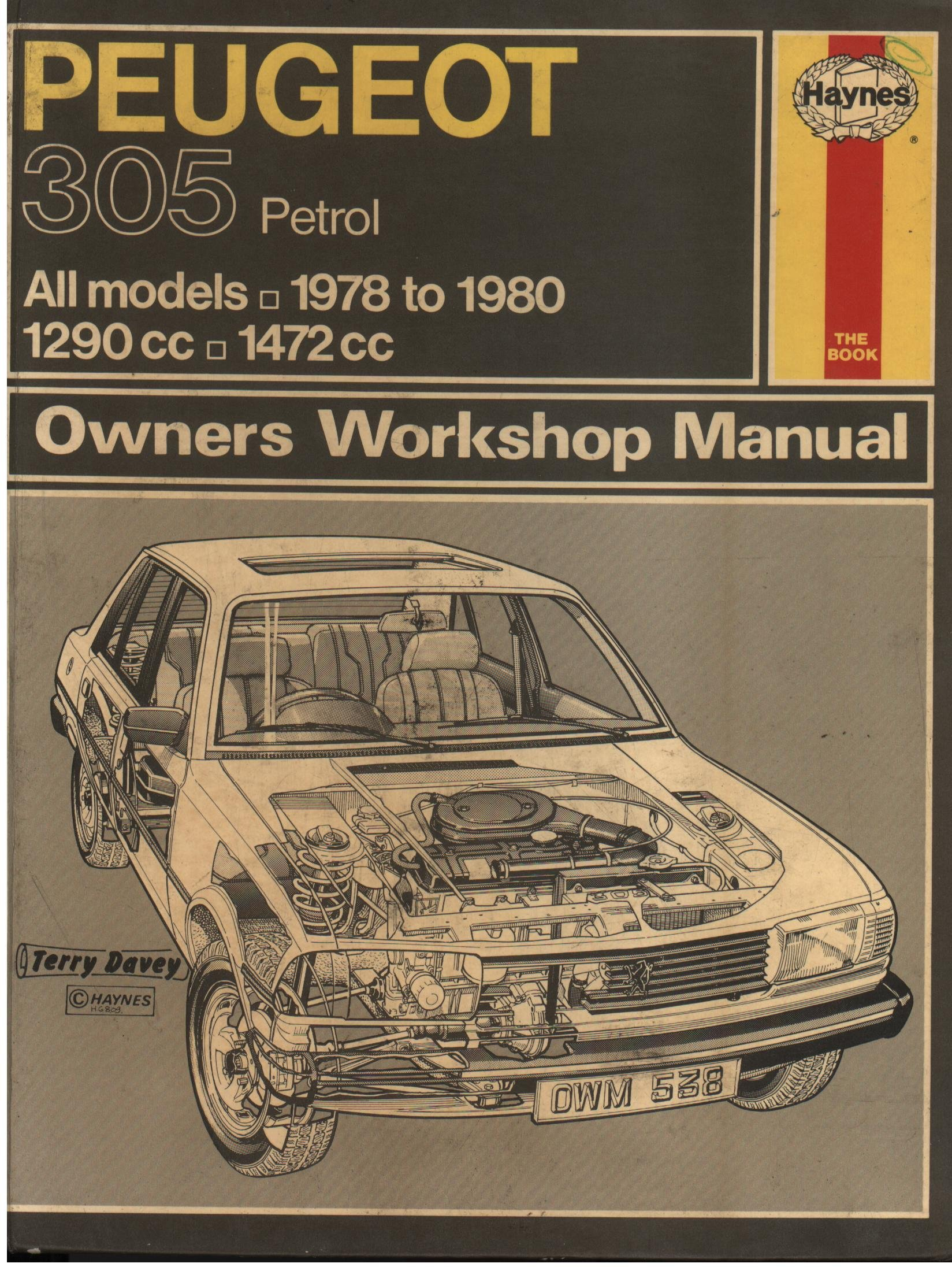 Peugeot 305 Owner's Workshop Manual: Ronald G.O. Hawes: 9780856965388:  Books - Amazon.ca