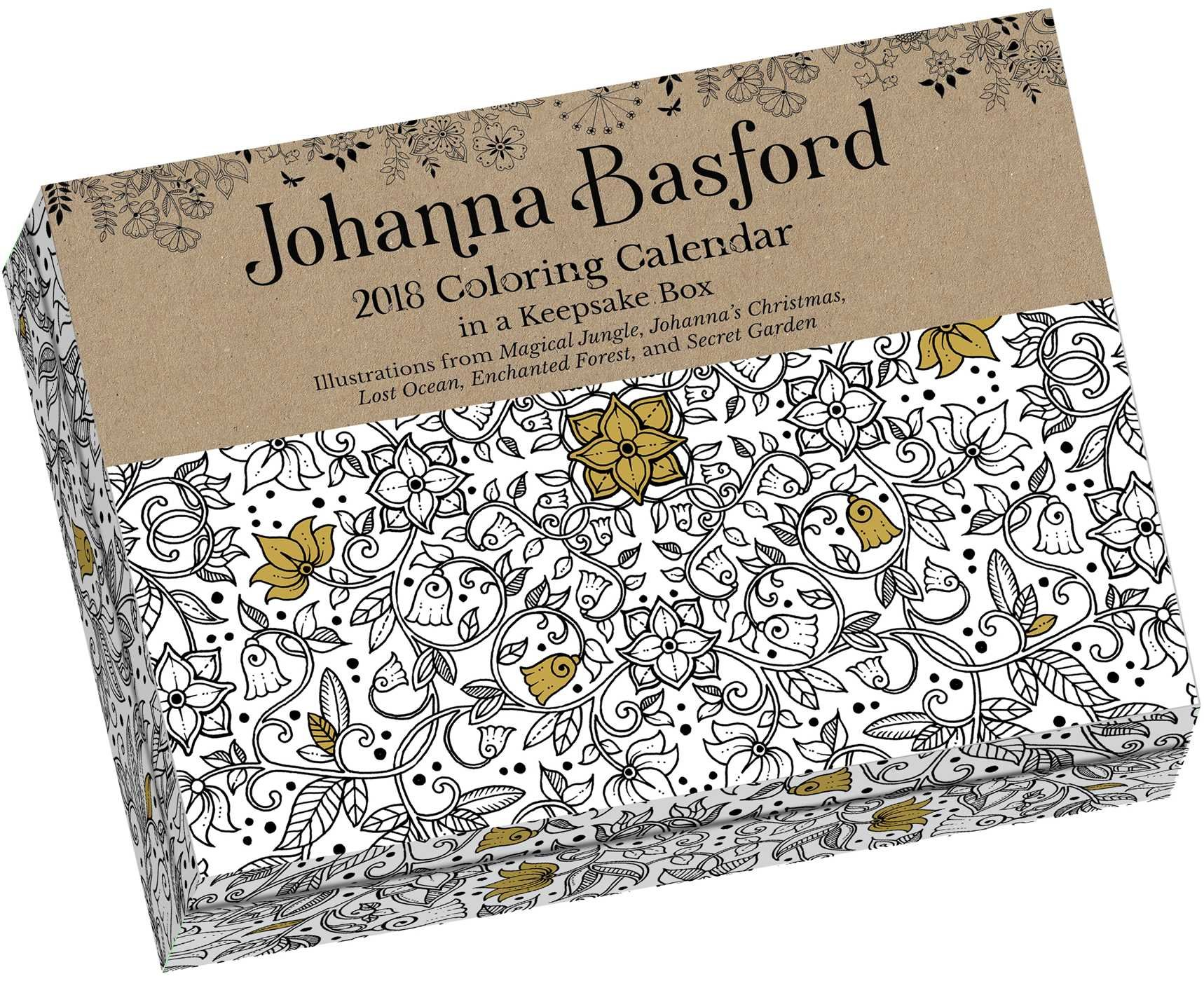 Johanna Basford 2018 Coloring Day To Calendar 9781449482787 Amazon Books