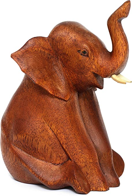Handcrafted Wooden Natural Elephant sculpture //Home Decor// Wall Decor// Ornaments