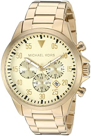 3c816bc10630 Amazon.com  Michael Kors Men  sGage Gold-Tone Watch MK8491  Michael ...