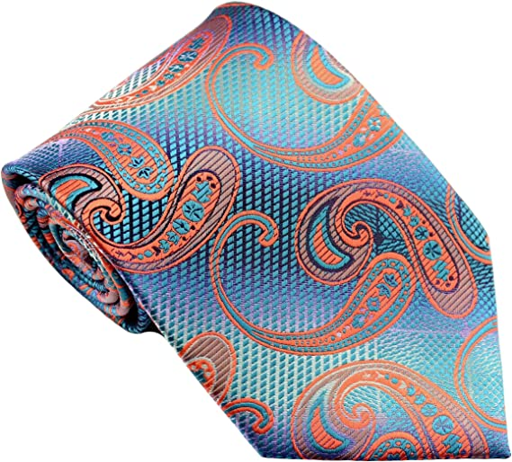 New Classic Paisley Purple Gold Red JACQUARD WOVEN 100/% Silk Men/'s Tie Necktie