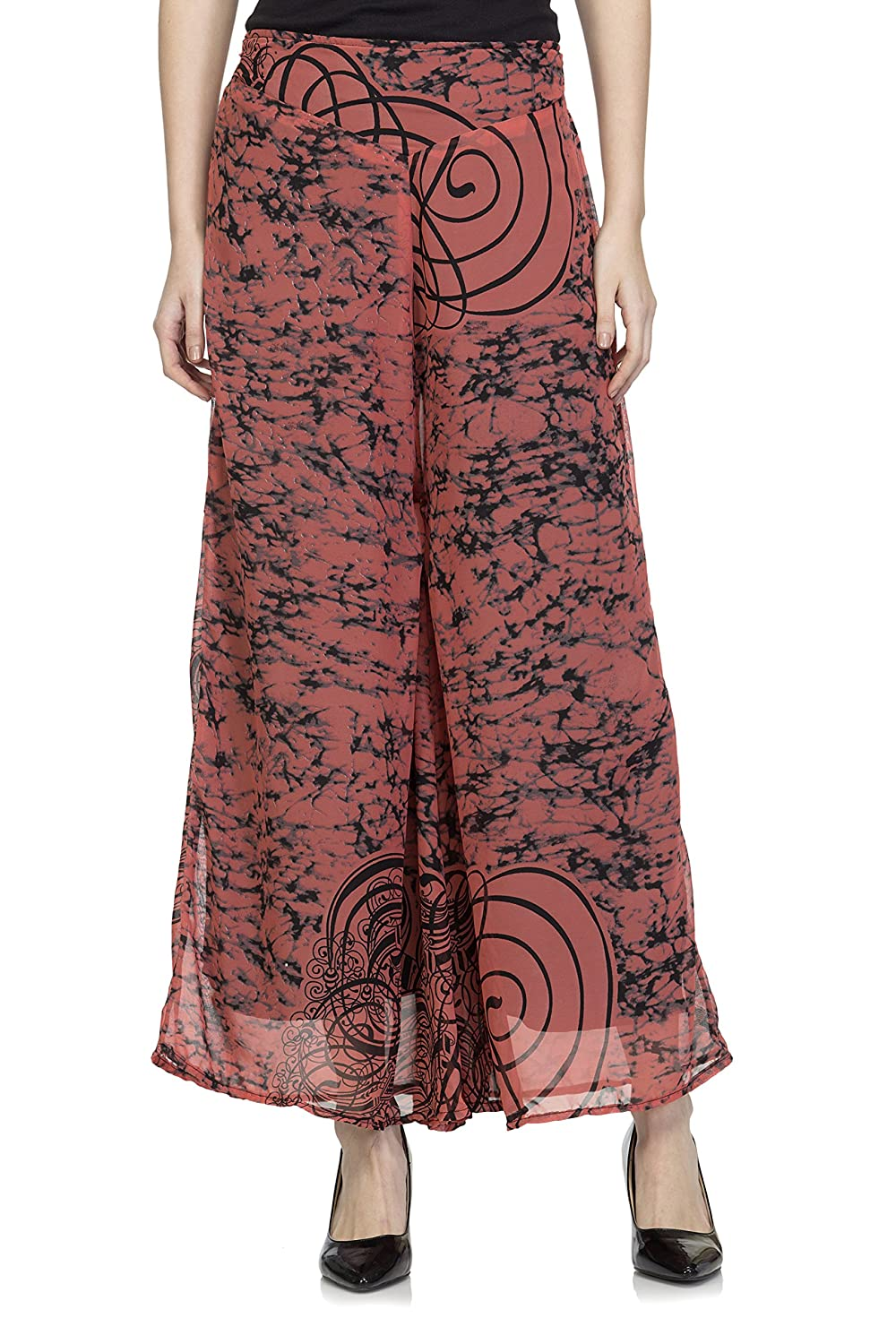 One Femme Women's Printed Palazzo with Wide Flare