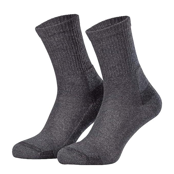 Tobeni 3 pares hombre calcetines trabajo de algodón con talón y puntera reforzados: Amazon.es: Ropa y accesorios