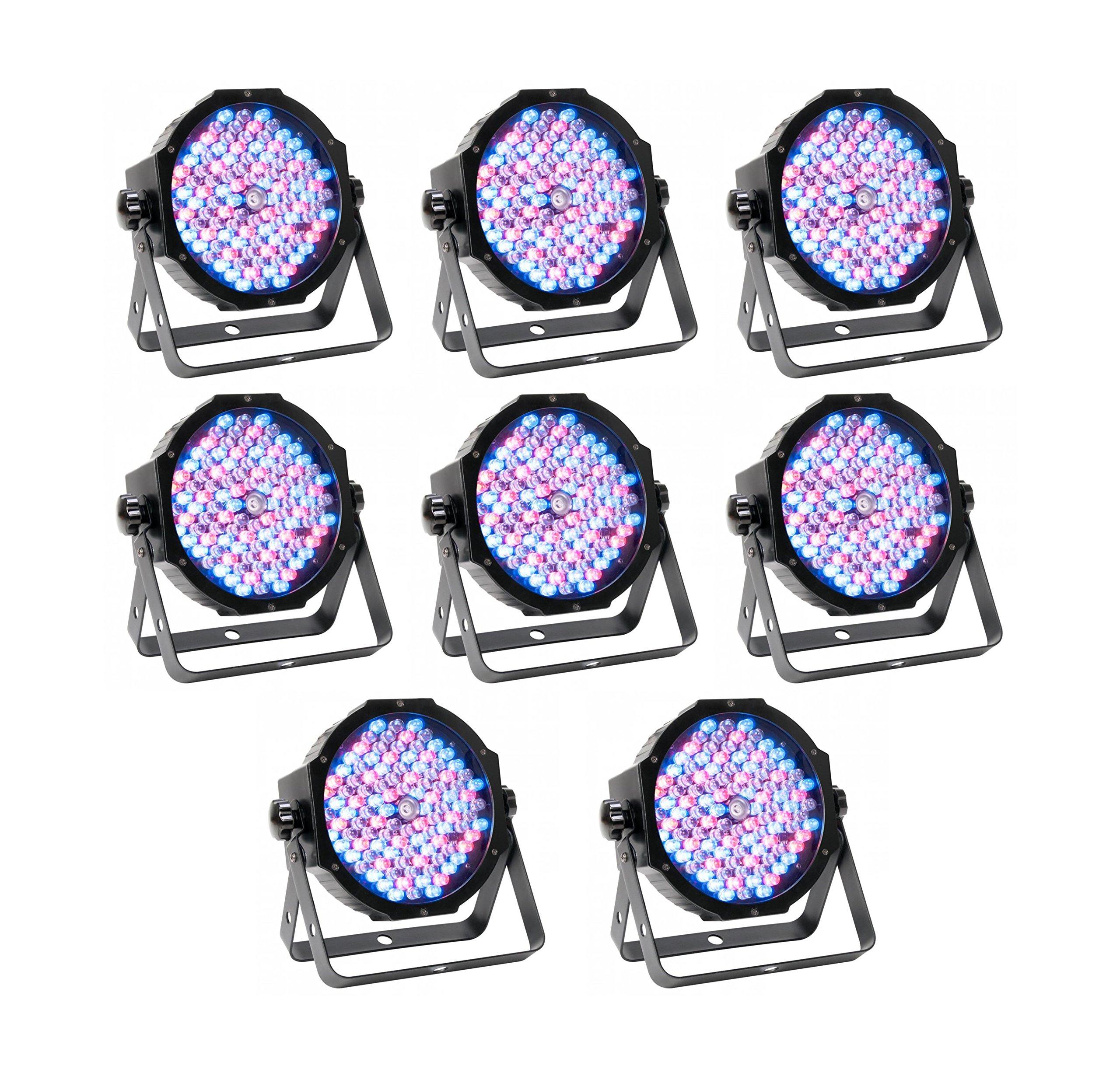 (8) American DJ Mega Par Low Profile Par Can Wash Lights