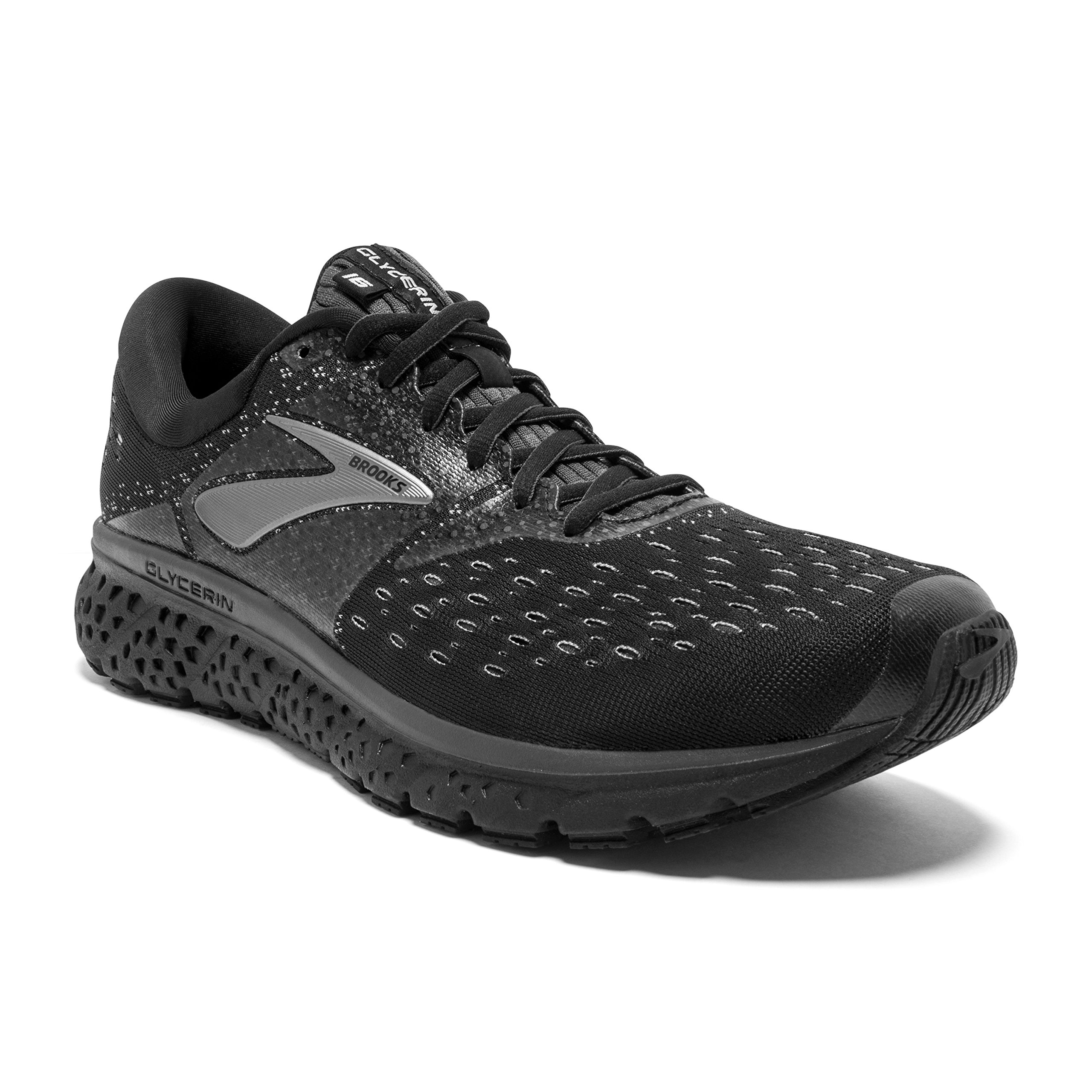 Brooks Mens Glycerin 16 - Black/Ebony - D - 8.0 by Brooks