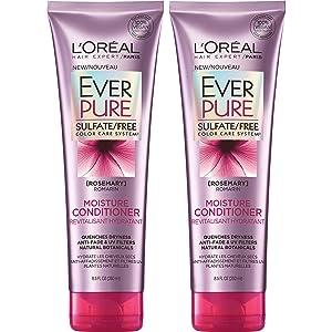 L'Oréal Paris Hair Care EverPure Sulfate Free Moisture Conditioner, 2 Count (8.5 Fl. Oz each)