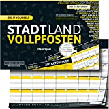 DENKRIESEN Stadt Land Vollpfosten - Do it Yourself-Edition - Stadt Land Fluss rediseñado para Viajes (Formato DIN A4…