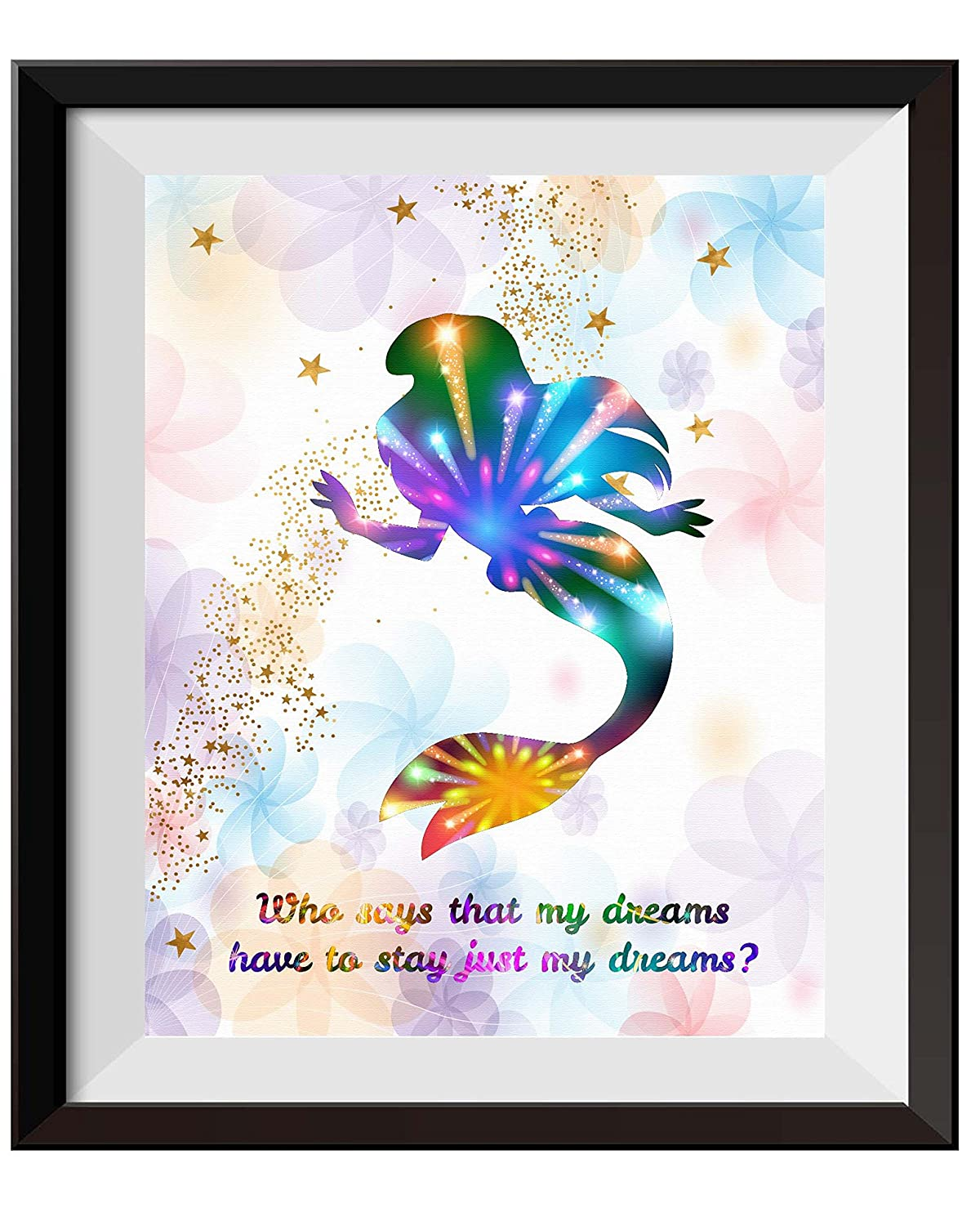 11X14 Uhomate Princess Ariel The Little Mermaid Home Canvas Prints Wall Art Anniversary Gifts Baby Gift Inspirational Quotes Wall Decor Living Room Bedroom Bathroom Artwork C075