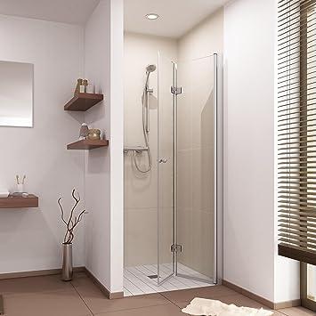 nischentr falttr duschabtrennung dusche duschwand nische rahmenlos 70 75 80 85 90 - Dusche Nischentur 85 Cm