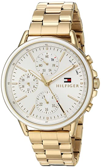 Tommy Hilfiger Women s Sport  Quartz Gold-Tone-Stainless-Steel Casual  Watch 045224f4446