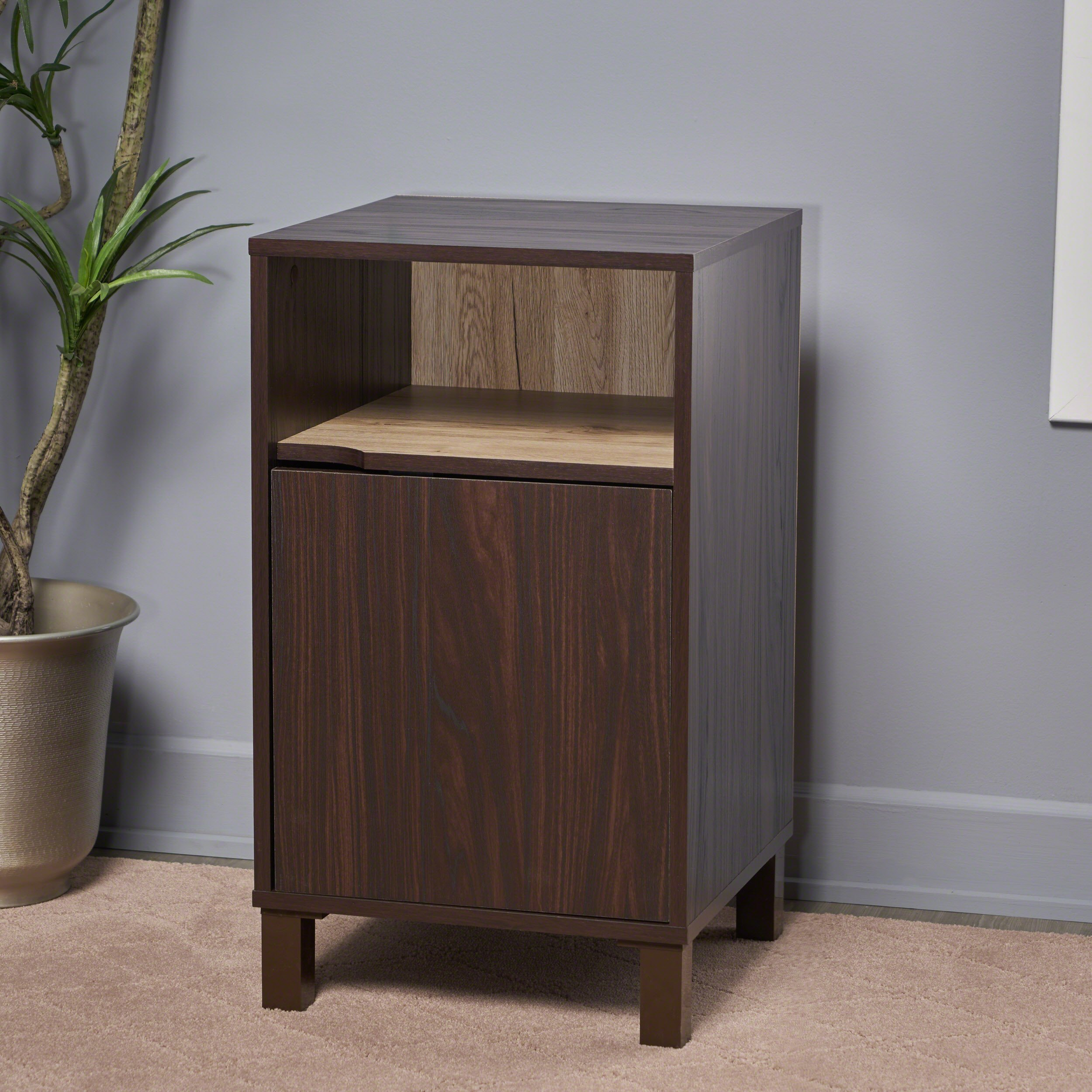 Christopher Knight Home 303655 Linnea Wood Cabinet, Walnut/Sanremo Oak/Brown by Christopher Knight Home (Image #2)