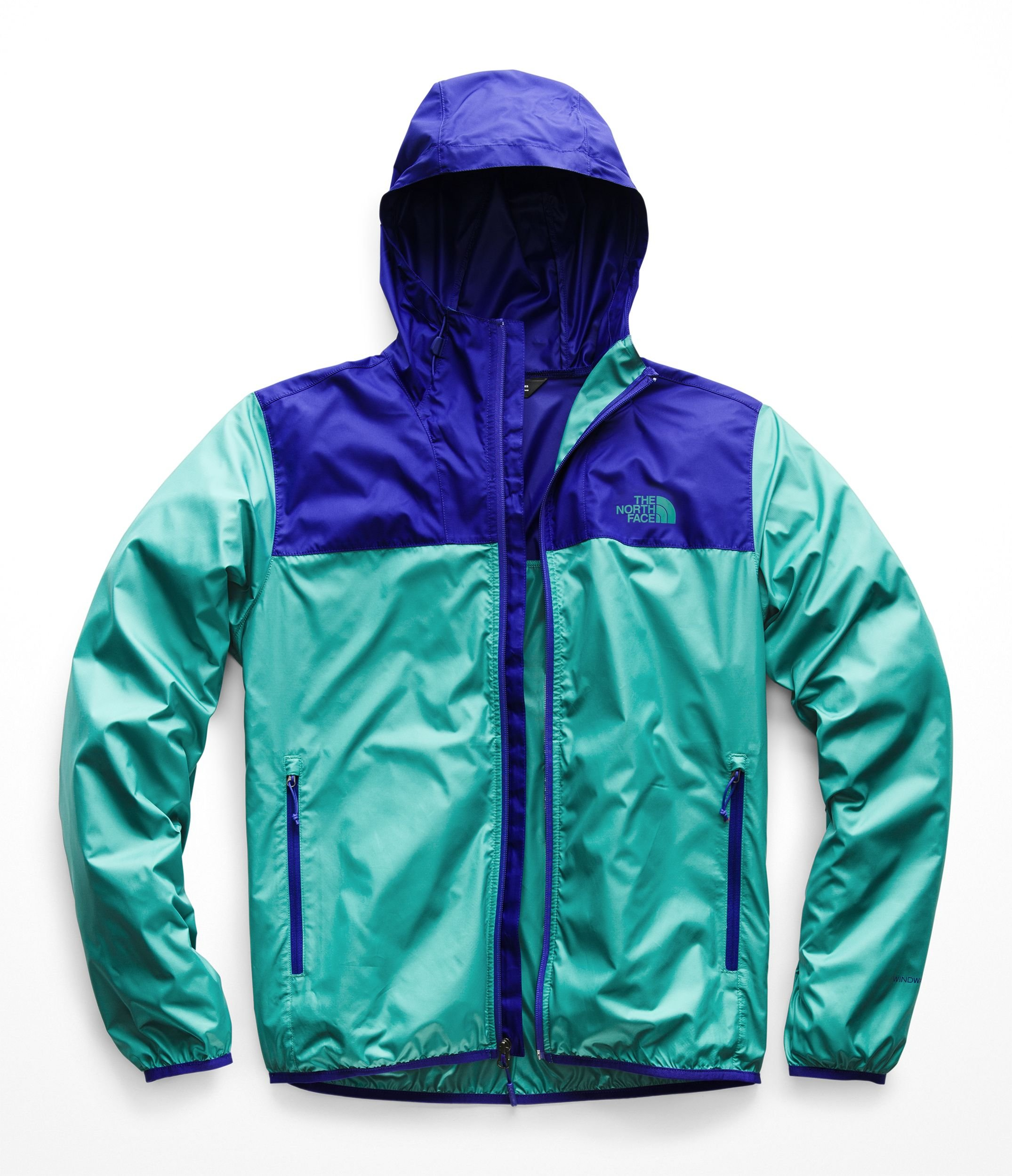 The North Face Men's Cyclone 2 Hoodie - Deep Blue & Porcelain Green - L by The North Face