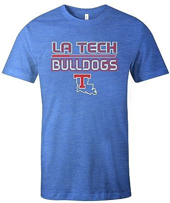 hot sale online 2a7fe 71540 NCAA Louisiana Tech Bulldogs Adult NCAA Reverse Short sleeve Triblend  T-Shirt,Large,Royal