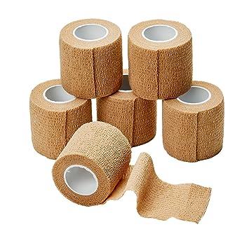 amazon com medca self adherent cohesive wrap bandages 2 inches x 5